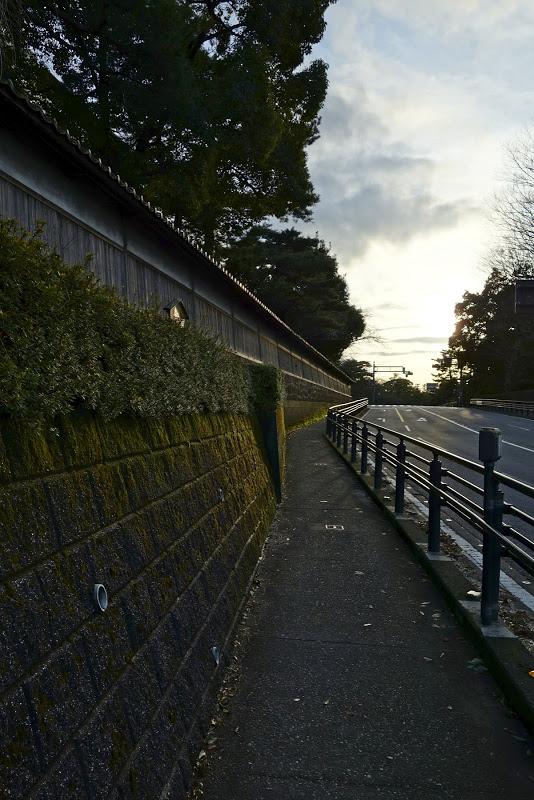 奥村家土塀 冬の光