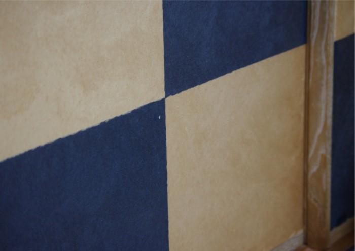 4−1我家の青白市松の襖